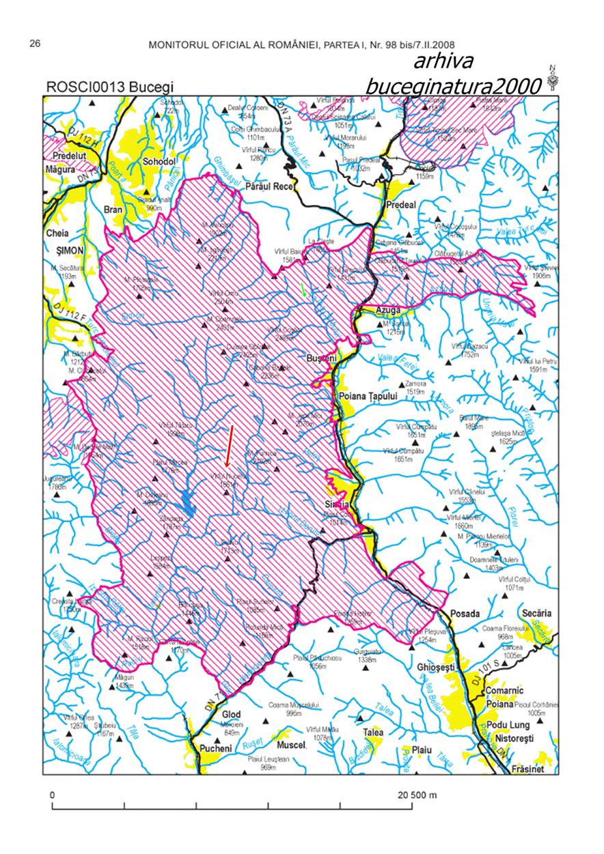 Harta Sit Natura 2000 Bucegi
