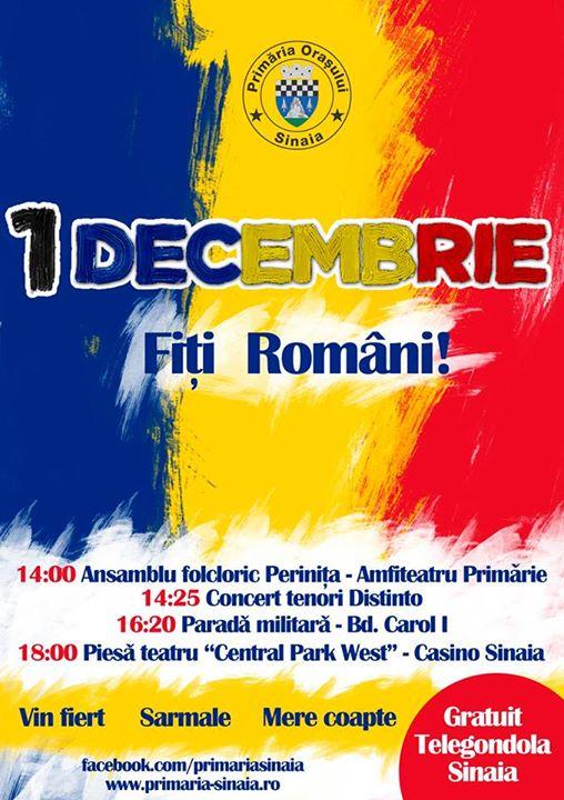 1 decembrie Sinaia